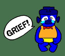 Blue Robot sticker #1768516