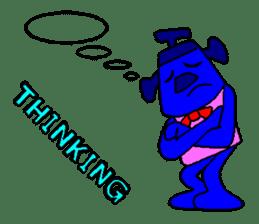 Blue Robot sticker #1768522