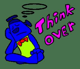 Blue Robot sticker #1768523