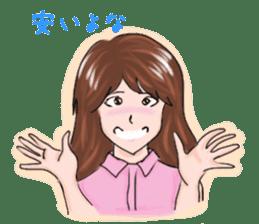 Hearted story of Osaka,Japan sticker #1769012