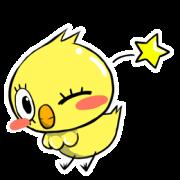สติ๊กเกอร์ไลน์ eyelashes chick