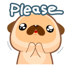 Pug You (En) sticker #1787889