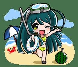 Tohoku Zunko lovely days sticker #1790856