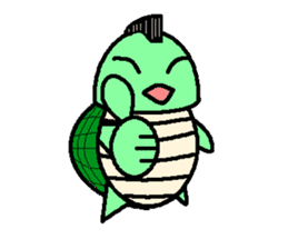Mohican Turtle sticker #1793001