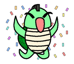 Mohican Turtle sticker #1793002