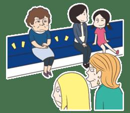 The Train People in Japan sticker #1795331