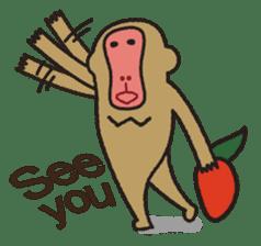 Mango monkey  English version sticker #1798404