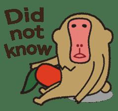 Mango monkey  English version sticker #1798406