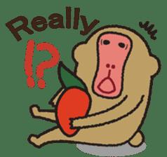 Mango monkey  English version sticker #1798407