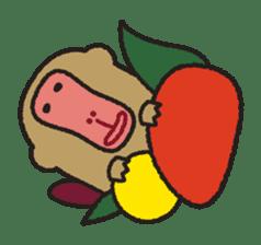 Mango monkey  English version sticker #1798410