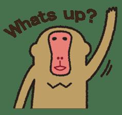 Mango monkey  English version sticker #1798411