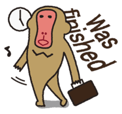 Mango monkey  English version sticker #1798414