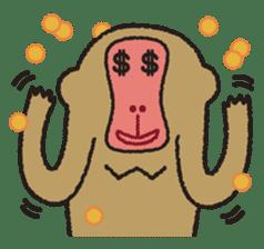 Mango monkey  English version sticker #1798424