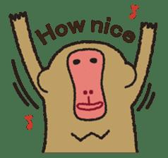 Mango monkey  English version sticker #1798425