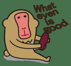Mango monkey  English version sticker #1798428