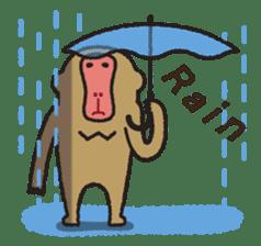 Mango monkey  English version sticker #1798431