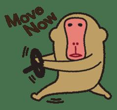 Mango monkey  English version sticker #1798439