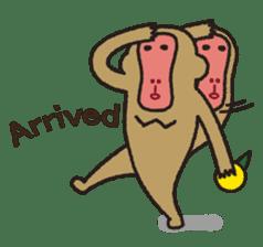 Mango monkey  English version sticker #1798440
