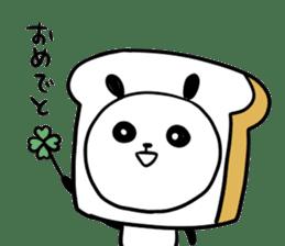 Panda bread sticker sticker #1802925