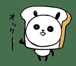 Panda bread sticker sticker #1802927