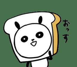 Panda bread sticker sticker #1802928