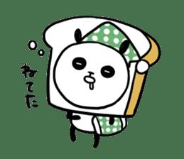 Panda bread sticker sticker #1802930