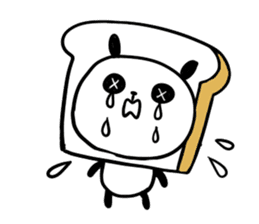 Panda bread sticker sticker #1802931