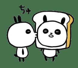 Panda bread sticker sticker #1802933