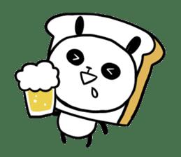 Panda bread sticker sticker #1802934