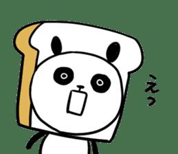 Panda bread sticker sticker #1802935