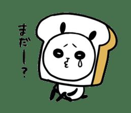 Panda bread sticker sticker #1802938