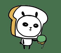 Panda bread sticker sticker #1802940