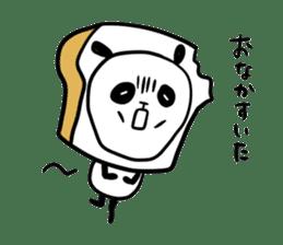 Panda bread sticker sticker #1802942