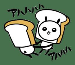 Panda bread sticker sticker #1802952