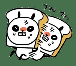Panda bread sticker sticker #1802956