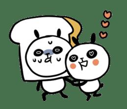 Panda bread sticker sticker #1802958