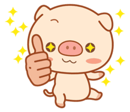 PINK Piggy sticker #1811889