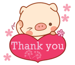 PINK Piggy sticker #1811890