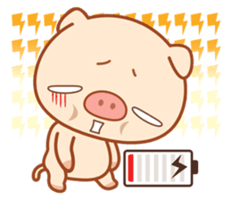 PINK Piggy sticker #1811896