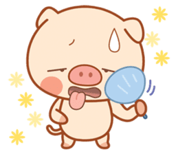 PINK Piggy sticker #1811898