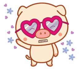 PINK Piggy sticker #1811900