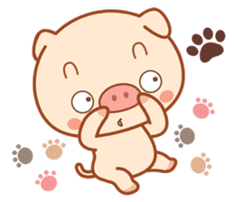 PINK Piggy sticker #1811903