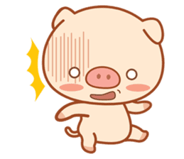 PINK Piggy sticker #1811906