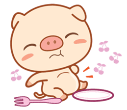 PINK Piggy sticker #1811913