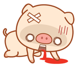 PINK Piggy sticker #1811914