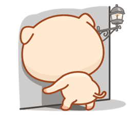 PINK Piggy sticker #1811916