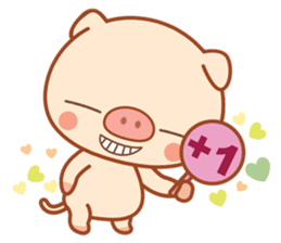 PINK Piggy sticker #1811918