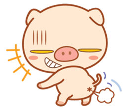 PINK Piggy sticker #1811919