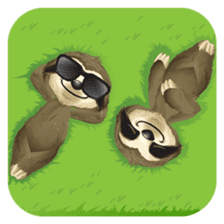 Matty the Sloth: Hanging Out sticker #1815801