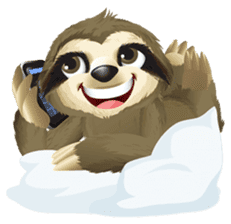 Matty the Sloth: Hanging Out sticker #1815810